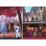 Clementoni-25255 3 Puzzles - Frozen 2