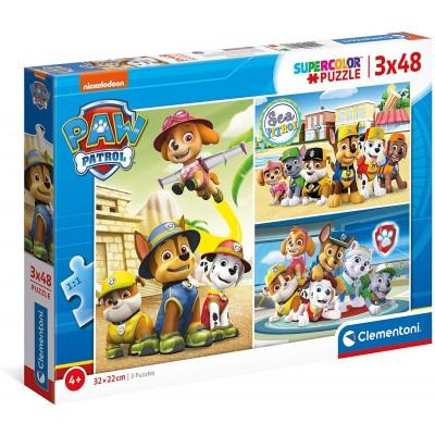 Clementoni-25262 3 Puzzles - Paw Patrol