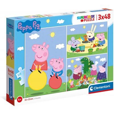 Clementoni-25263 3 Puzzles - Peppa Pig