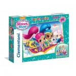 Clementoni-25451 Riesen-Bodenpuzzle - Shimmer & Shine