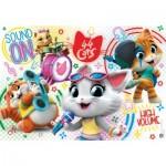 Puzzle  Clementoni-25466 XXL Teile - 44 Cats