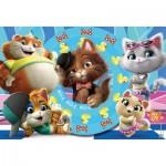Clementoni-26441 XXL Puzzle  - 44 Cats