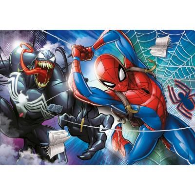 Clementoni-27117 Spiderman Supercolor Puzzle