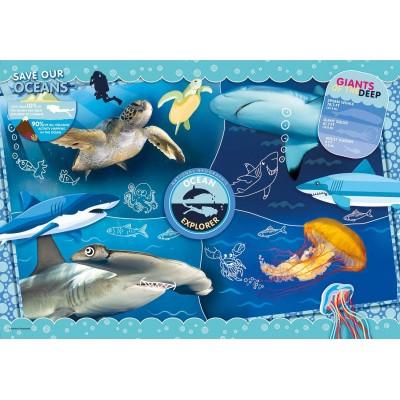 Clementoni-27141 Ocean Explorer - Supercolor Puzzle