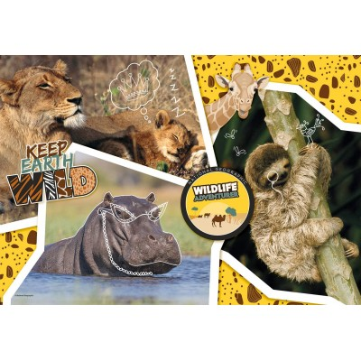 Clementoni-27143 National Geo - Wildlife Adventure-Supercolor Puzzle