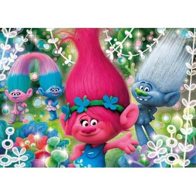 Clementoni-27249 Glitter Puzzle - Trolls