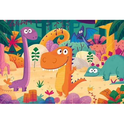 Puzzle  Clementoni-28506 XXL Teile - Dinosaurius