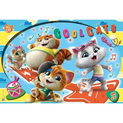 Puzzle  Clementoni-28512 XXL Teile - 44 Cats