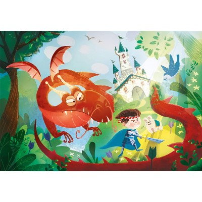 Puzzle  Clementoni-29209 The Dragon And The Knight