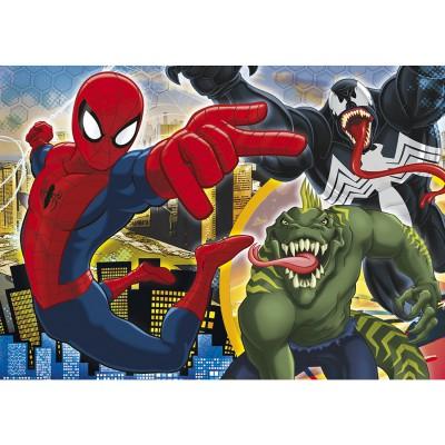 Puzzle  Clementoni-29681 Ultimate Spiderman: Der Kampf beginnt