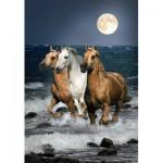 Puzzle  Clementoni-31676 Galoppierende Pferde