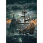 Puzzle  Clementoni-31682 Das Piratenschiff