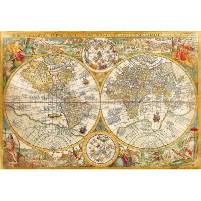 Puzzle  Clementoni-32557 Antike Karte