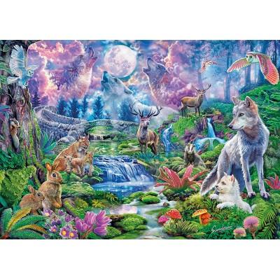 Puzzle  Clementoni-33549 Moonlit Wild