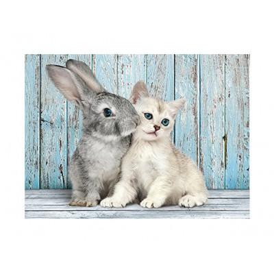 Puzzle  Clementoni-35004 Katze und Hase
