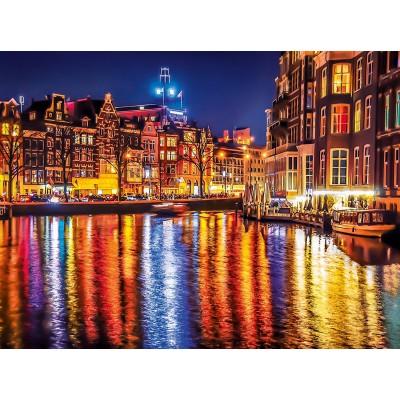 Puzzle Clementoni-35037 Amsterdam bei Nacht