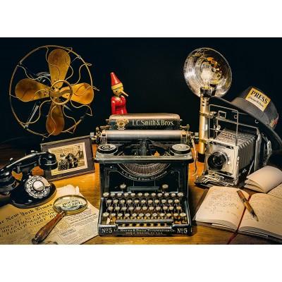 Puzzle  Clementoni-35040 Die Schreibmaschine