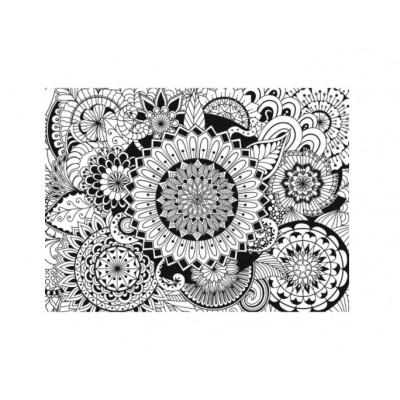Clementoni-35053 3D Colour Therapy Puzzle - Mandala