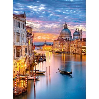 Puzzle  Clementoni-35056 Leuchtendes Venedig