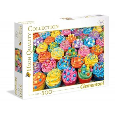 Puzzle  Clementoni-35057 Bunte Cupcakes