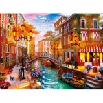 Puzzle  Clementoni-35063 Sonnenuntergang auf Venedig