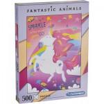 Puzzle  Clementoni-35066 Fantastic Animals - Einhörner