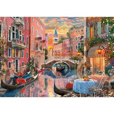 Puzzle  Clementoni-36524 Venedig bei Sonnenuntergang