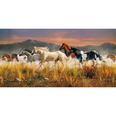Puzzle  Clementoni-38006 Pferde im Galopp