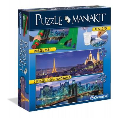 Clementoni-39277 Puzzle Mania Kit