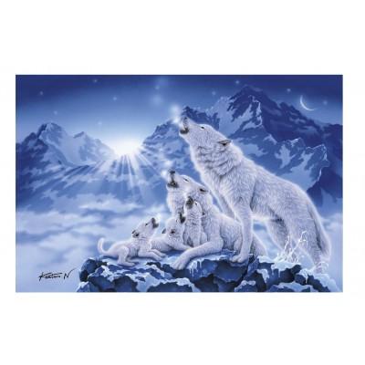 Puzzle  Clementoni-39280 Wolfsrudel
