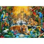 Puzzle  Clementoni-39380 Geheimnisvolle Tiger