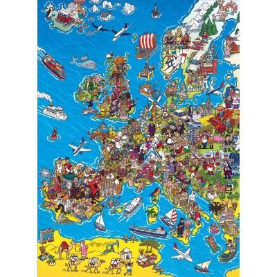 Puzzle  Clementoni-39384 Europakarte