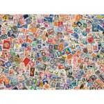 Puzzle  Clementoni-39387 Briefmarken