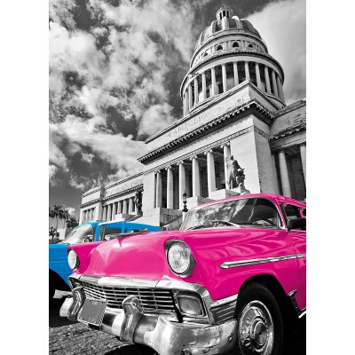 Puzzle Clementoni-39400 Metallic Effekt - Cuba