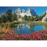 Puzzle  Clementoni-39459 Pordoijoch, Dolomiten, Italien
