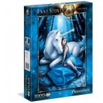 Puzzle  Clementoni-39462 Anne Stokes - Blauer Mond