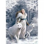 Puzzle  Clementoni-39477 Anne Stokes - Wächter des Winters