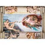 Puzzle  Clementoni-39496 Michelangelo - Die Erschaffung Adams
