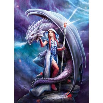 Puzzle  Clementoni-39525 Anne Stokes : Dragon Mage