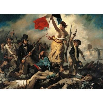 Puzzle  Clementoni-39549 Delacroix Eugène : Liberté Guidant le Peuple