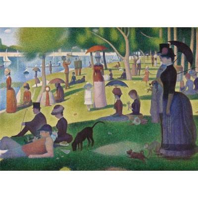 Puzzle  Clementoni-39613 Seurat Georges - Ein Sonntagnachmittag auf der Insel La Grande Jatte
