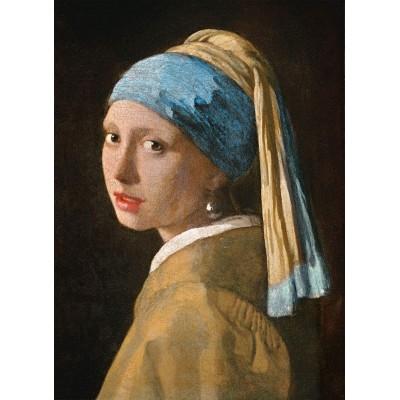 Puzzle  Clementoni-39614 Vermeer Johannes - Das Mädchen mit dem Perlenohrgehänge