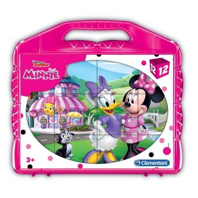 Clementoni-41184 Würfelpuzzle - Minnie