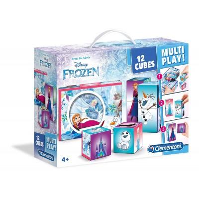 Clementoni-41503 Würfelpuzzle - Frozen