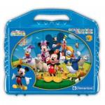 Clementoni-42495 Würfelpuzzle - Mickey Maus Club House