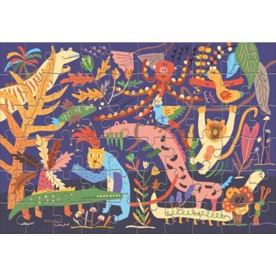 Puzzle  Clementoni-50172 Wild Animals
