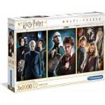 Clementoni-61884 3 Puzzles - Harry Potter