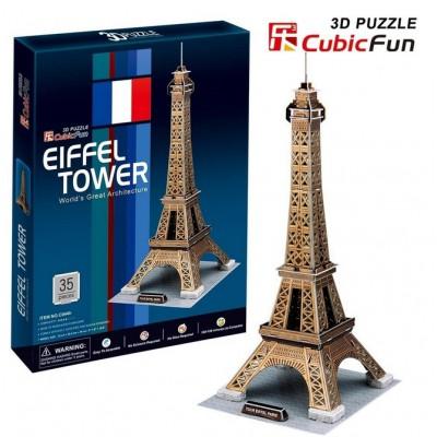 Cubic-Fun-C044H Puzzle 3D - Paris: Eiffelturm