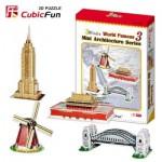 Cubic-Fun-C086H 3D Puzzle - Mini Architektur Serie: Monumente der Welt (Schwierigkeit: 3/8)