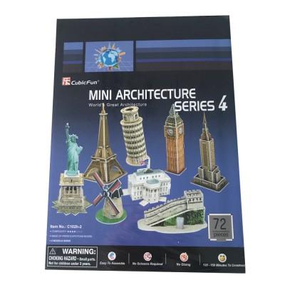 Cubic-Fun-C102H 3D Puzzle - Mini Architektur Serie: Monumente der Welt (Schwierigkeit: 3/8)